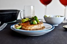 made this last week! maple bourbon glazed pork chops. pork chops are hard to keep moist...but not with this recipe. thank you howsweeteats.com!