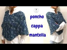 In questo tutorial vi mostro un modo molto semplice di ottenere un capo versatile e facile da personalizzare. A seconda della lunghezza, sarà mantella, cappa... Crochet Art, Crochet Cardigan, Knitted Shawls, Crochet Patterns, Crochet Style, Sunburst Granny Square, Lake Mcdonald, Photo Pattern, Ladies Poncho