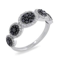 #Malakan #Jewelry - Platinum-Silver Black Velvet Diamond Ladies Ring 87488A3 #Fashion #FashionRings #WomensFashion