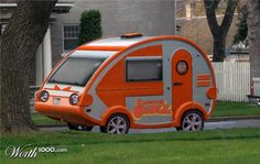 Check out this T@B with the full window in the rear! Also there are 2 axels and the door is over a wheel-well. (I think it is a T@B, maybe it's a look-a-like?) * Oh, just realized it is Photoshopped. Darn it. Still cool to look at! retro campers -