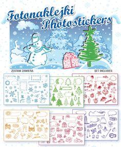 Fotonaklejki do zdjęć Instax i tradycyjnych - zestaw Zima | Fotonaklejki | Sklep Internetowy Handpick.eu - starannie wybrana oferta
