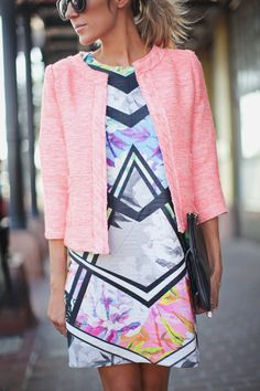 Neon Geometric Dress