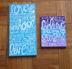 Word Canvas Art