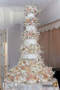 Wedding Cakes 36 Sylvia Weinstock The Most Magical Wedding Extravagant Wedding Cakes, Big Wedding Cakes, Luxury Wedding Cake, Amazing Wedding Cakes, Magical Wedding, Wedding Cake Designs, Wedding Cake Toppers, Elegant Wedding, Dream Wedding