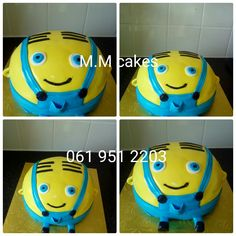 Character Cakes, Minions, Wedding Cakes, Birthday Cake, Projects, Birthday Cakes, The Minions, Wedding Pie Table, Wedding Cake