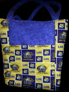 Quilted Tote Bag by HandmadeBySusanInTx on Etsy, $60.00