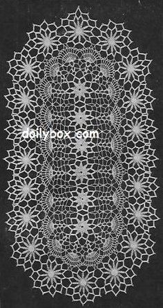 Free Vintage Crochet Painted Daisy Doily Pattern