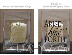 LDS Young Women: Arise Jar Craft