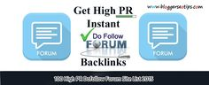 Top 40 High PR Dofollow Forums Lists 2015    Dofollow Forums is Most Important way to Get Some High PR Backlinks . We make List of High PR Dofollow Forums 2015 and that will help you to Boost Google Page .     #seotips #seo #backlinks #forums