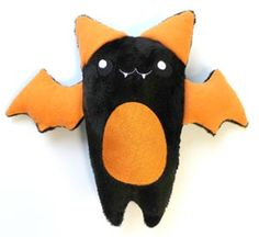 Stitch and turn this bat's wings and ears, then insert them into this in-the-hoop design, to create an adorably spooky pal!