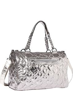 Betsey Johnson - YOURS MINE OURS SATCHEL METALLIC