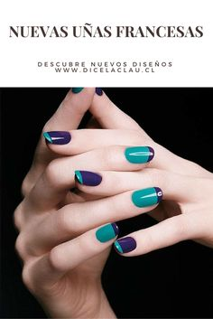 Trendy Nail Polish Designs The new manicure trends offer you the privilege to experiment with these trendy simple nail art designs in . Nail Art Designs, French Manicure Designs, Nail Polish Designs, Nail Design, Diva Design, Gel Polish, Easy Nails, Simple Nails, Cute Nails