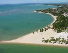 Vista aérea da praia de Coroa Vermelha.
