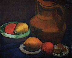 The Athenaeum - Still Life with clay pitcher (1907) (Paula Modersohn-Becker - )
