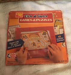 Vintage Etch A Sketch Games Puzzles 12 Overlays SEALED 517 Ohio Art | eBay
