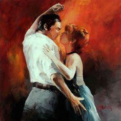 Geschildere doek tango met passion versie 2
