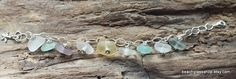 beautiful and  rare pieces of beach glass!  LOVE this bracelet!