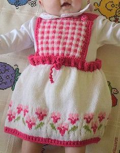 Bed of Roses Baby Dress | Can you handle the cuteness? This knit baby dress is everything.