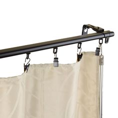 Design like a pro by redecorating your living space with this extremely smooth baton draw operating track with sliders. This adjustable curtain rack offers a superior slide that fits between the inner and outer rod.