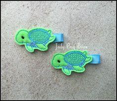 Sea Turtle Hair Clip Turtle Hair Clip Turtle Clip by JadyBugBows