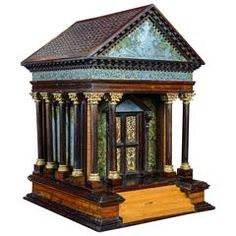 19th Century, Little Roman Temple with Secret Opening Systems by Molnard