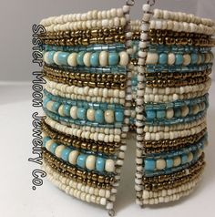 Tophatter : Beaded Boho 25 Row Cuff Bracelet                                                                                                                                                      More