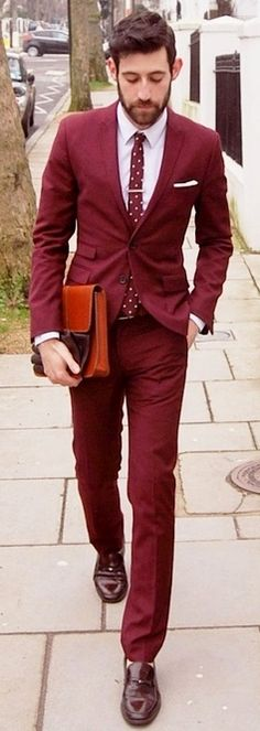 All about the color...don't be afraid to wear a suit with bright and bold colors