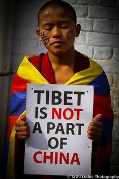 Respectez la différence - Le Tibet appartient aux tibétains - Le Tibet ce n'est pas la Chine -