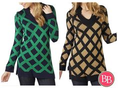 How CUTE is the pattern on this?? Our Mud Pie Sweater Tunic will keep you warm and cozy in style this season!! •$46.95 • Free Shiping when you spend $50!! #BBGirls #fallfashion #mudpie #sweatertunic #style #lattice www.brandisboutiqueshop.co > Ladies > Tops & Tunics