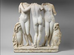 The Three Graces Roman, Imperial period, second century A.D. Copy of a Greek work of the second century B.C. Marble; 48 7/16 x 39 3/8 in. (123 x 100 cm) The Metropolitan Museum of Art, Purchase, Philodoroi, Lila Acheson Wallace, The Jaharis Family Foundation Inc., Annette de la Renta, Shelby White, The Robert A. and Renée E. Belfer Family Foundation, Mr. and Mrs. John A. Moran, Jeanette and Jonathan Rosen, Malcolm Wiener and Nicholas S. Zoullas Gifts, 2010 (2010.260) Image provided by the…