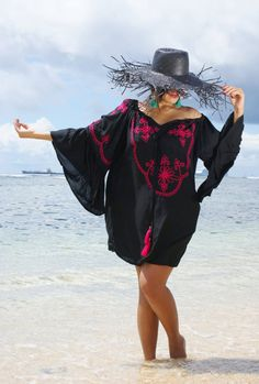 **Ibiza Tunic **  **PLEASE CHECK THE MEASUREMENTS BEFORE PURCHASE**  Loose fitting tassels tunic dress ideal for summer or casual day. It is made of rayon viole featured with cotton tassels.   s t y l e This above knee length tunic has at the front U featured with cotton string,embroidery, sequins and cotton tassels.  🎀 f a b r i c Lightweight rayon natural Voile with cotton tassels.  🎀 s i z e Free Size - one size fits most. Please convo me if you have specific size requests. Most…