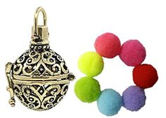 Sharefashion Circular Hollow Locket Necklace Fragrance Oil Aromatherapy Diffuser with 7pcs Pompon Sets >>> Click here for more details @ http://www.amazon.com/gp/product/B0183PQSB8/?tag=splendidjewelry07-20&prw=160716042156