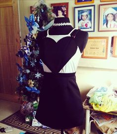 """""""Jump my Heart""""❤️ One of my Holiday Creation, for my niece OOTD's Christmas Party. Black Heart, Heart Shapes, Jumper, Holiday, Christmas, Ootd, Party, Skirts, House"""