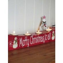 Merry Christmas To All Tealight Block www.dressmyhome.ie