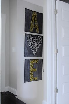A New Home for A & E String Art (NOTE: string art)