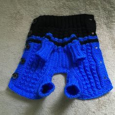 Pet Clothes Apparel Outfit for Small Dog Handmade Knit by 2CROWNS