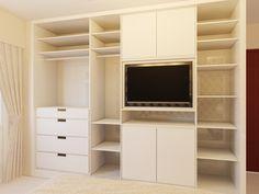wardrobe with tv