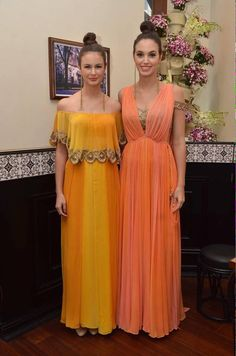 Citrus palette this season! by arpitamehta_am Indian Fashion Dresses, India Fashion, Asian Fashion, Indian Outfits, Indian Clothes, Pool Party Dresses, Pool Party Outfits, Wedding Dresses, Indian Wear