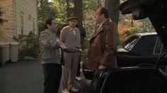 James Gandolfini looks amazing in the leather jacket. It does fit on him.