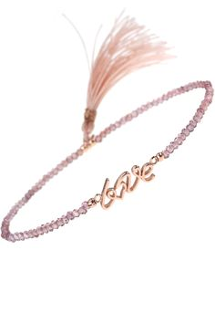 blush 'love' tassel bracelet I #NEW1SPRING