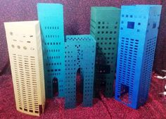 DIY Extra large Downtown skyline centerpiece / luminary DIY extra large skyscraper number three DIY extra large skyscraper set of three DIY New York Party, Number Two, For Your Party, Bar Mitzvah, Paper Cutting, Have Fun, Place Cards, Baby Shower, Cool Stuff