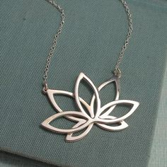 Lotus Necklace by Laladesignstudio on Etsy, $115.00