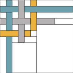 Modern Block of the Month (BOM) ~ February Sew-Along Modern Quilt Blocks, Quilt Block Patterns, Pattern Blocks, Border Pattern, Quilting Tips, Quilting Projects, Quilting Designs, Quilt Boarders, Sew Mama Sew