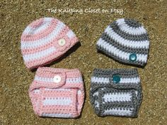 Crochet Diaper Cover Pattern and Hat Pattern  by Deborah O'Leary Patterns