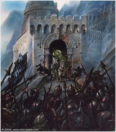 The Charge of the Rohirrim at Helm's Deep by John Howe