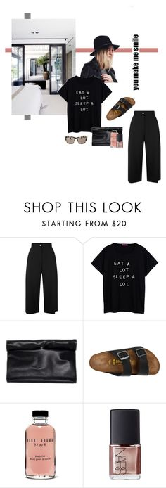 """Untitled #2126"" by katerina-rampota ❤ liked on Polyvore featuring Public School, Birkenstock, Bobbi Brown Cosmetics, NARS Cosmetics and Prism"