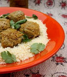 Moroccan style meatballs.... sounds yummy