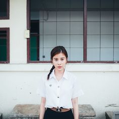 Kao Supassra in Student Uniform