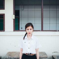 Kao Supassra in Student Uniform