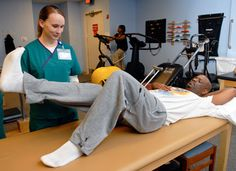 Physical Therapist performing lower extremity strength testing. #physicaltherapy, #occupationaltherapy, #rehabilitation